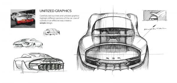 Porsche 901 concept by ege arguden design sketches 02