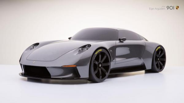 Porsche 901 concept by ege arguden scale model 02