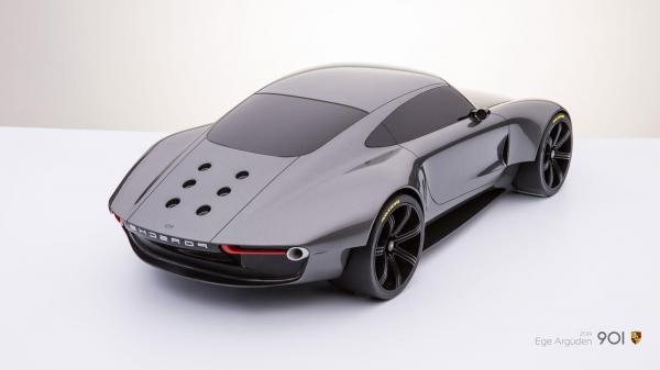 Porsche 901 concept by ege arguden scale model 05