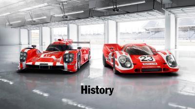 Porsche 919 hybrid and 917