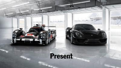 Porsche 919 hybrid and 918 spyder