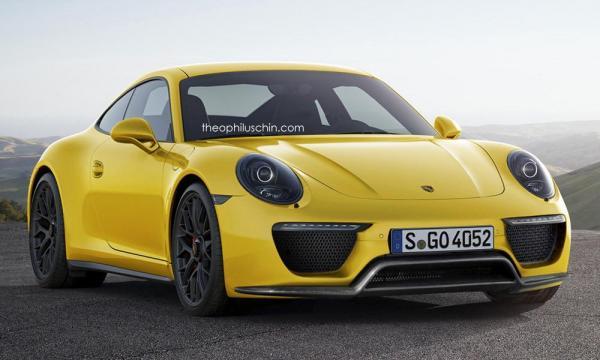 Porsche 992 rendering