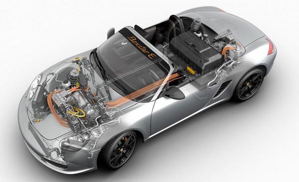 Porsche a déjà travaillé sur le tout électrique, notamment avec le projet Boxster E