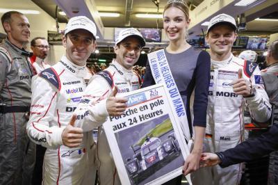 Porsche dumas jani lieb pole 2016 le mans