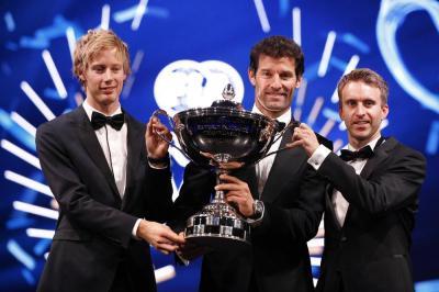 Porsche world champions brendon hartley mark webber timo bernhard