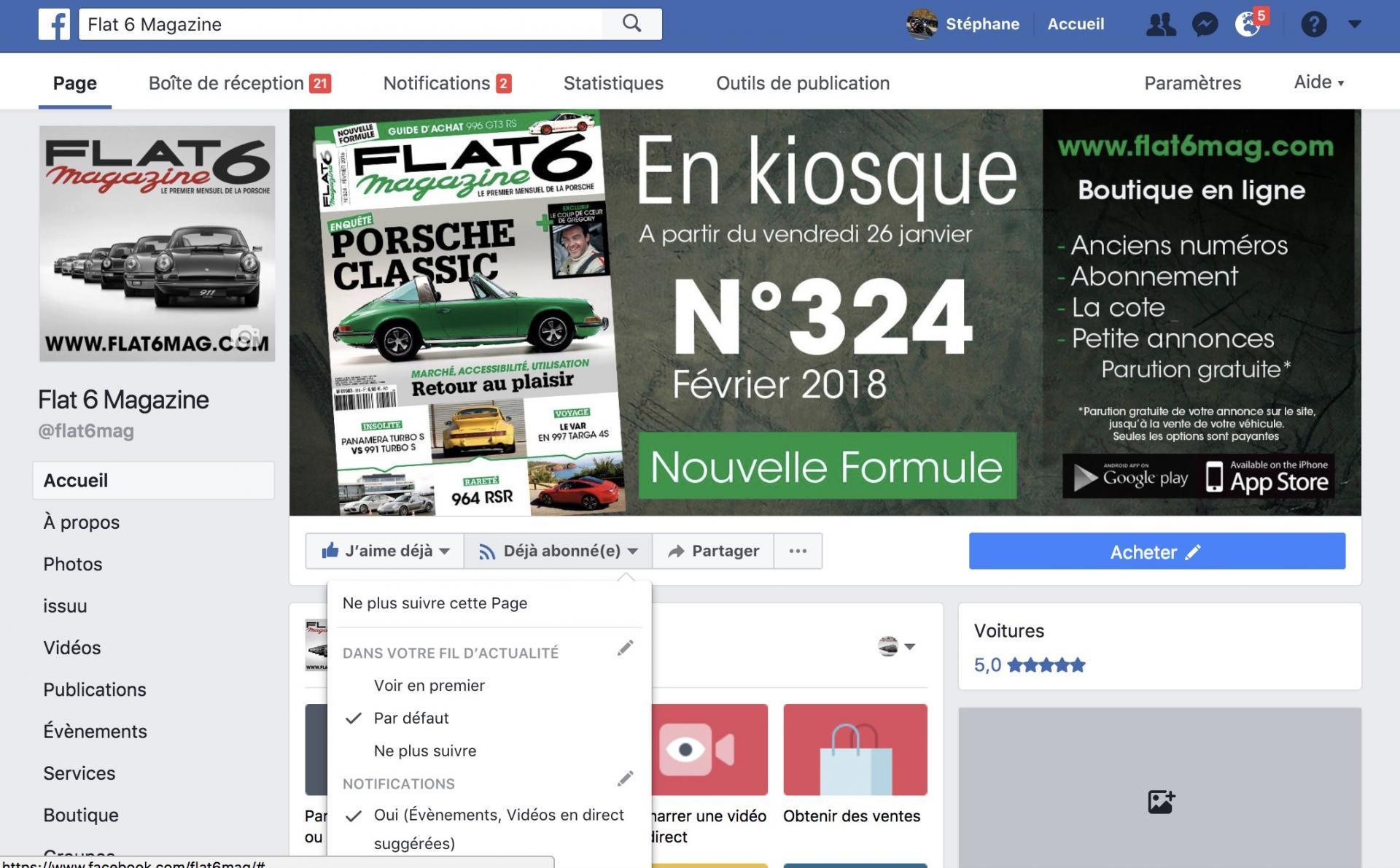 Facebook flat 6