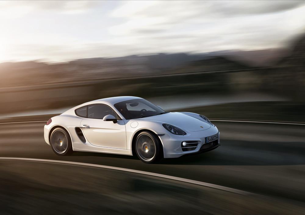 Porsche cayman 981 blanc profil
