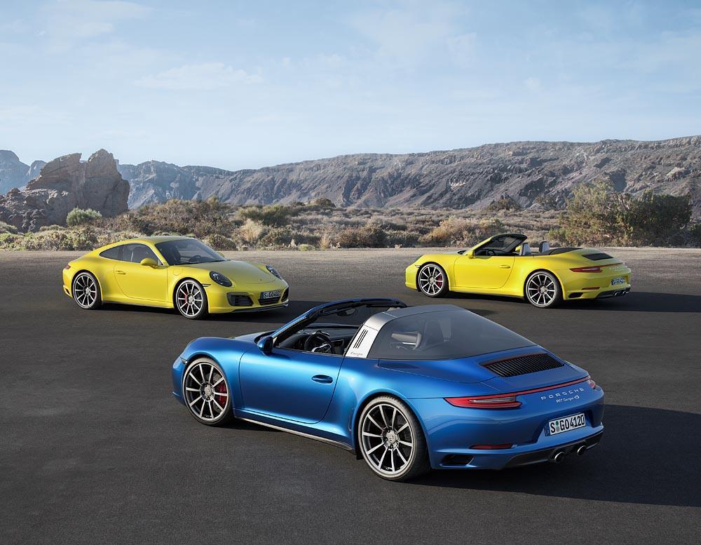 Porsche 991 2 targa et carrera 4s