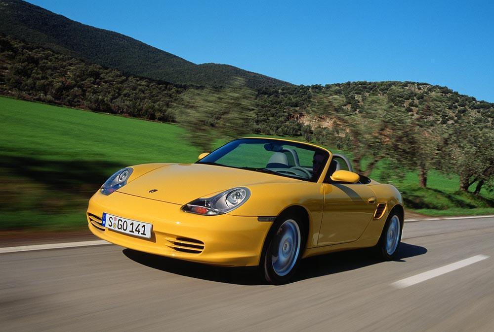 Porsche boxster 986 s jaune