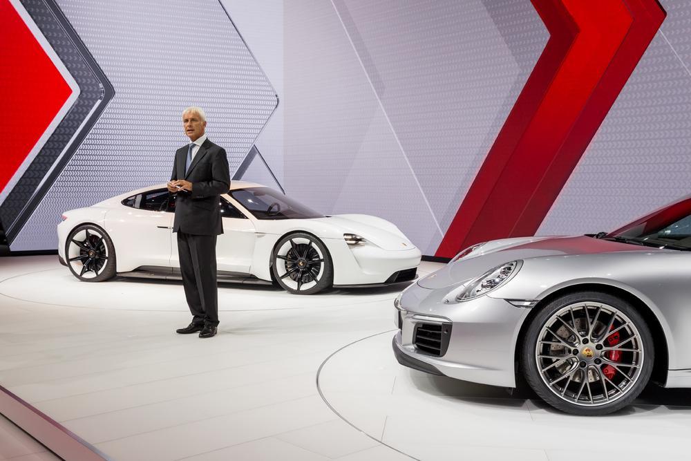 Matthias mu ller porsche mission e new 911 carrera iaa 2015