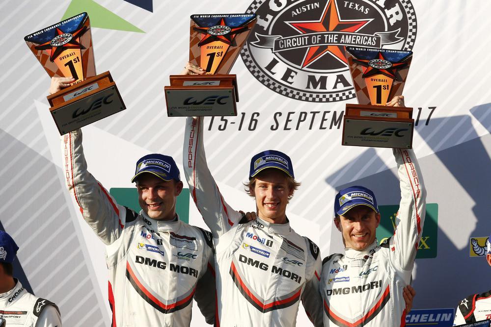 Porsche lmp team bamber hartley bernhard winners texas round