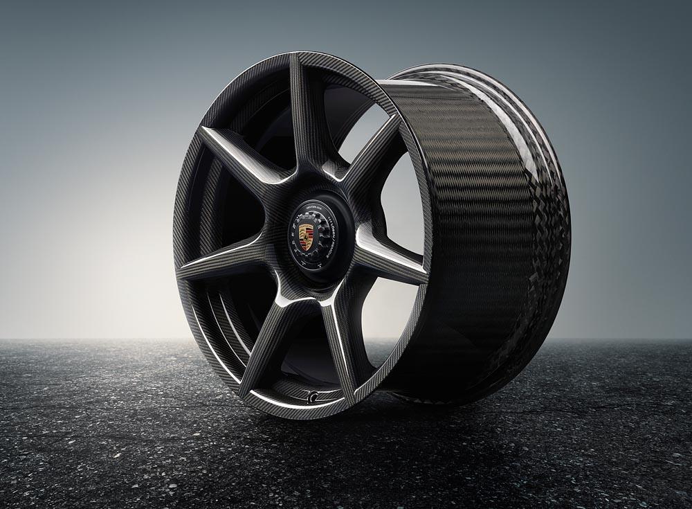 Porsche 20 inch 911 turbo carbon wheel inside