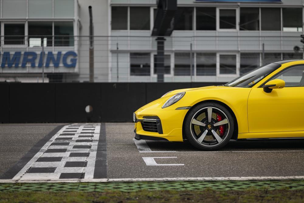 Porsche 992 turbo yellow