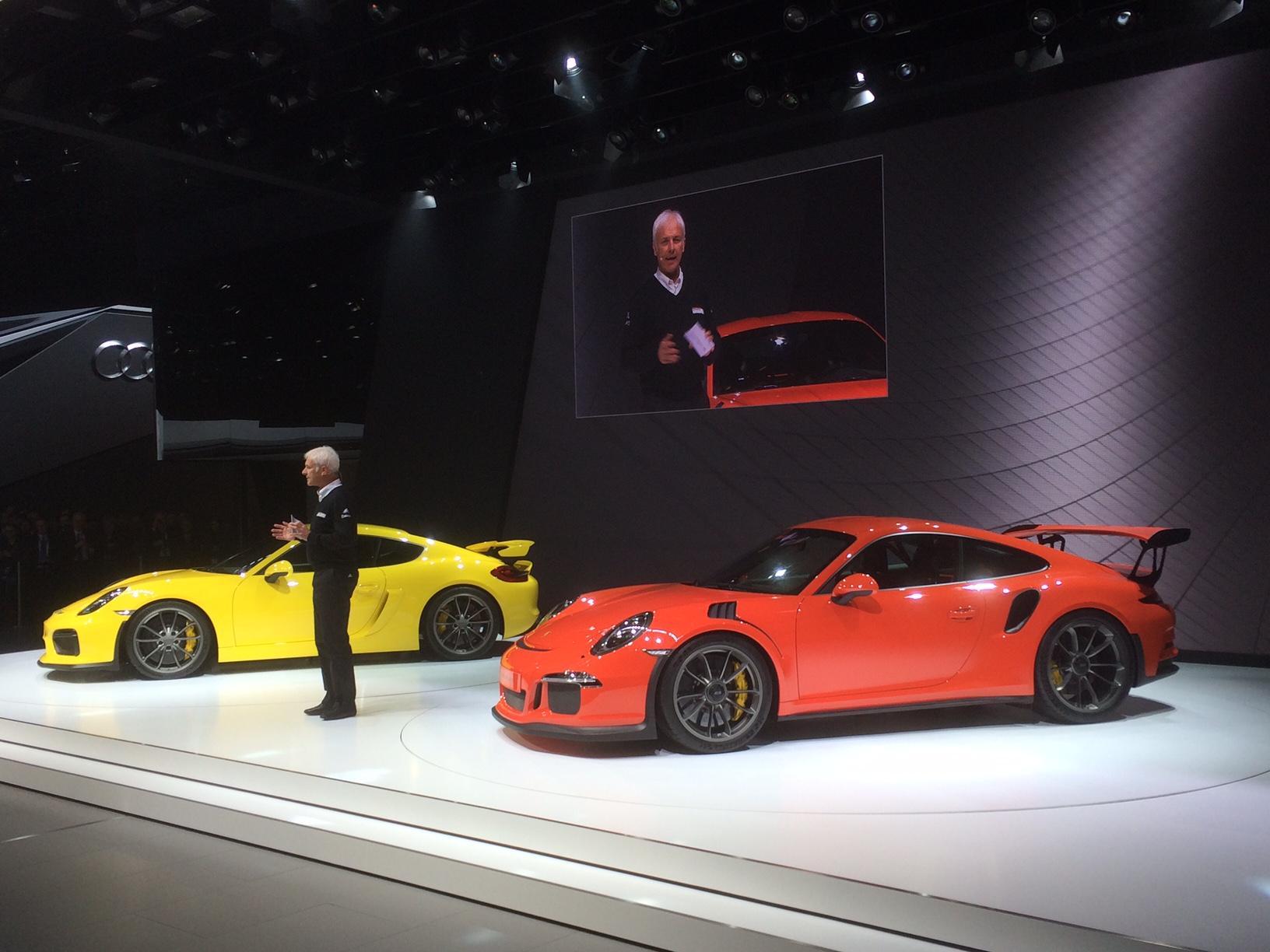 Porsche Cayman GT4 et 991 GT3 RS