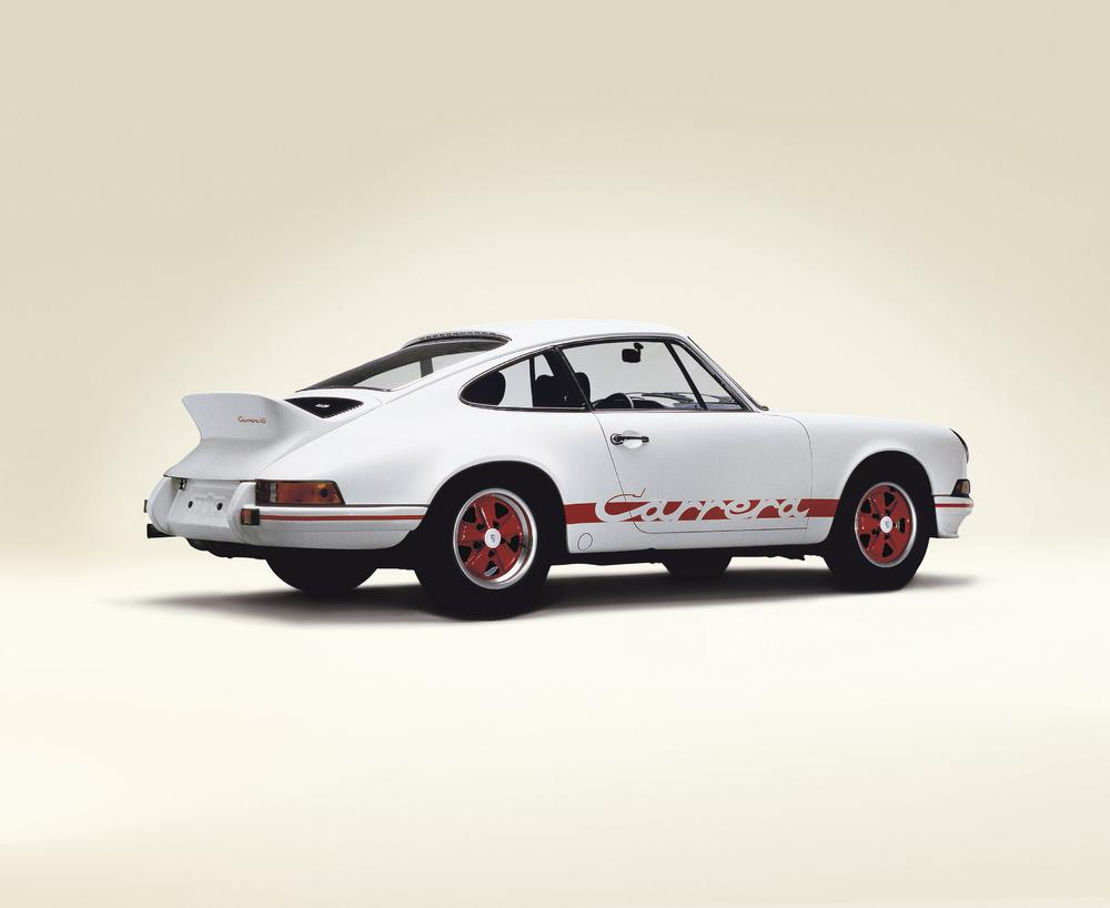 Porsche 911 carrera rs blanc rouge