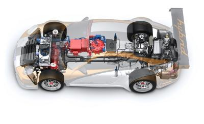 Porsche 911 gt3 r hybrid cutaway