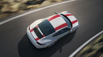 Porsche 911 r from above