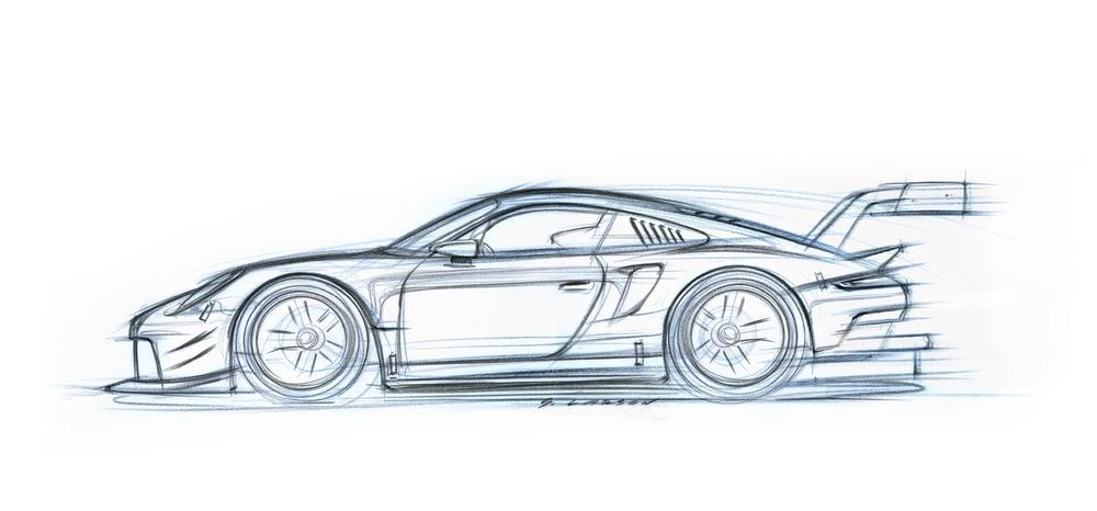 Porsche 911 rsr 2017 outline