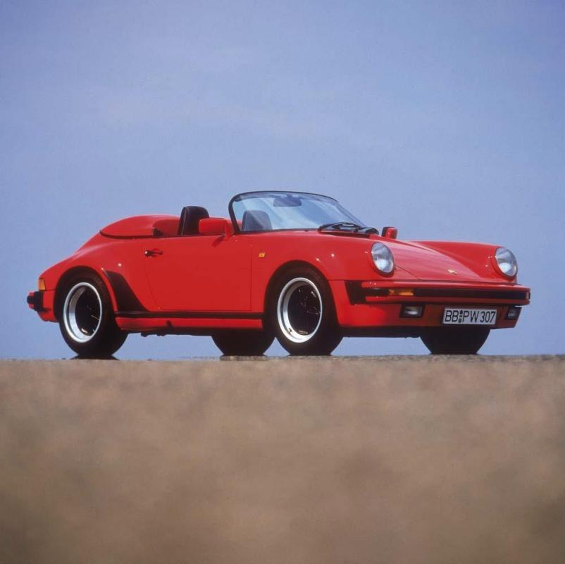 Porsche 911 speedster turbo look rouge indien