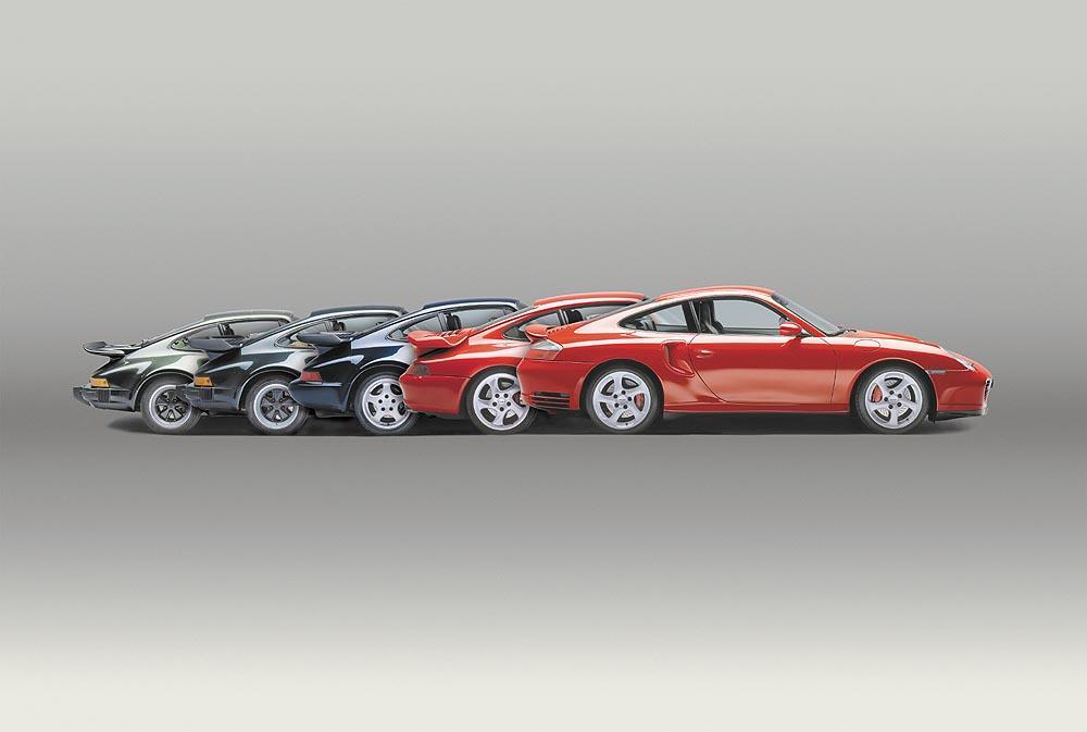Porsche 911 turbo generations