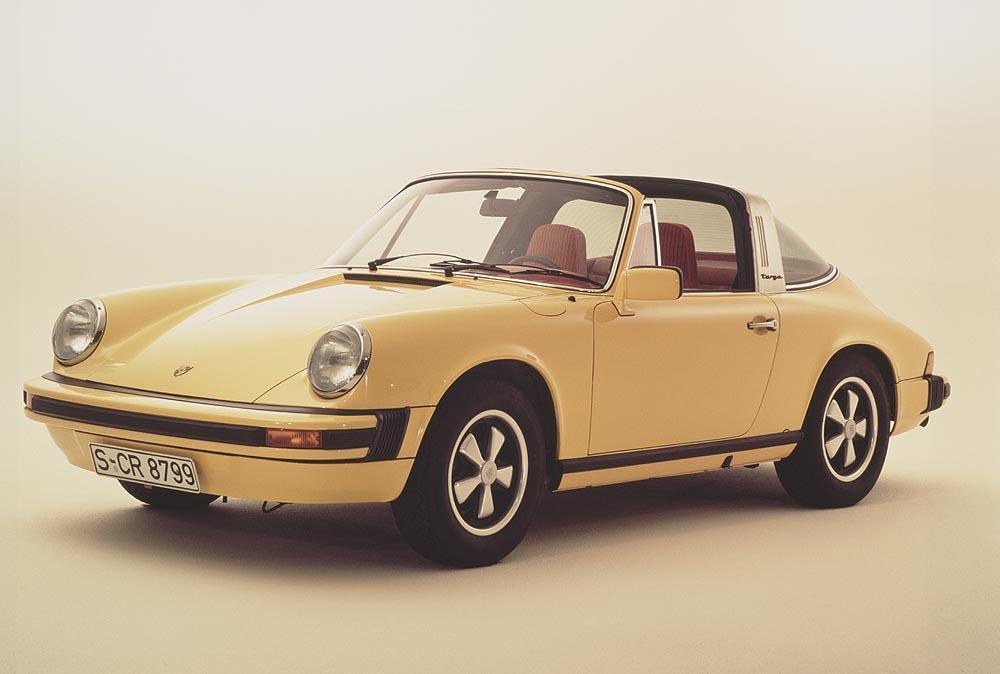 Porsche 911 type g 2 7 targa jaune