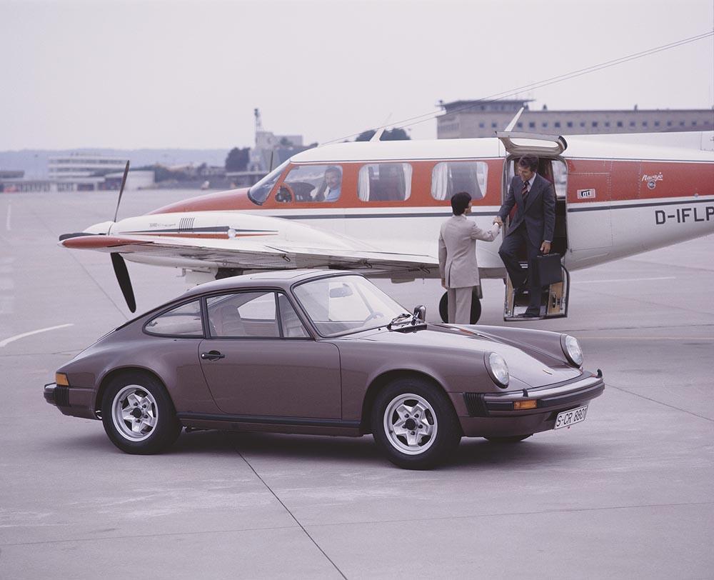 Porsche 911 type g carrera 3 0 marron profil