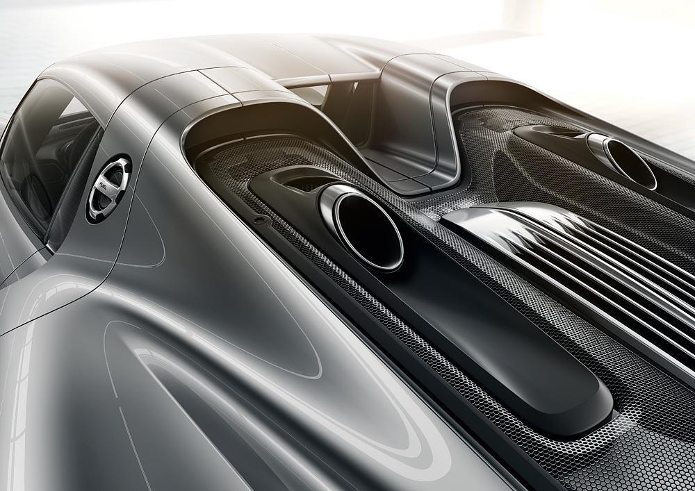 Porsche 918 spyder echappements