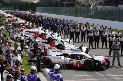 Porsche 919 hybrid start grid spa