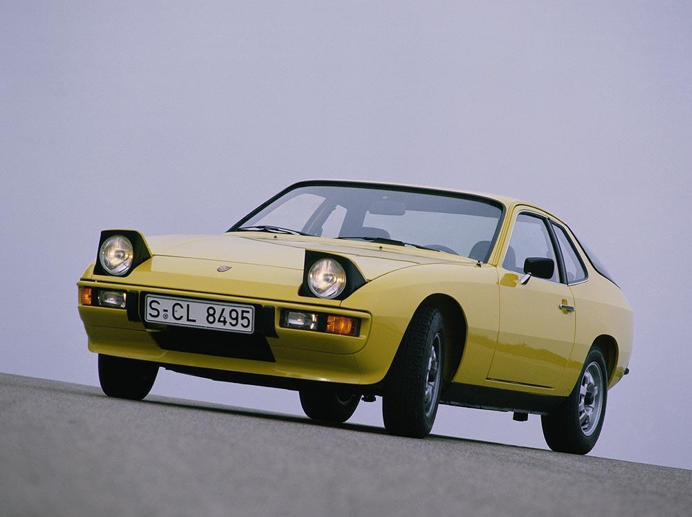 Porsche 924 jaune face
