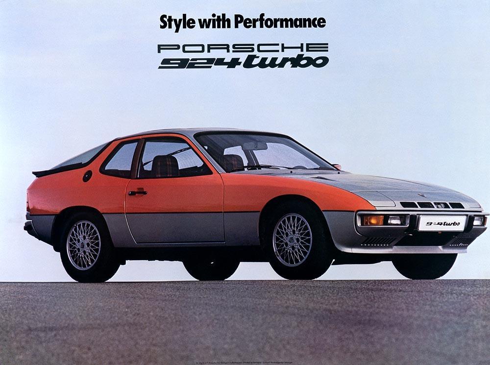 Porsche 924 turbo bicolore pub