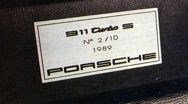Porsche 930 turbo s sonauto