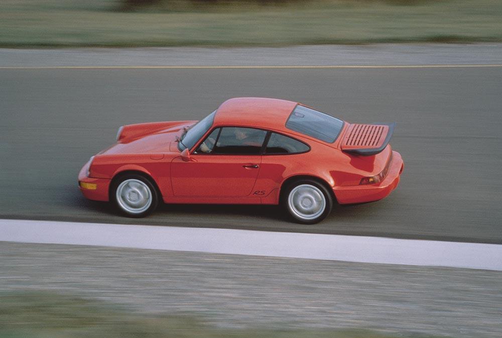 Porsche 964 rs america rouge profil