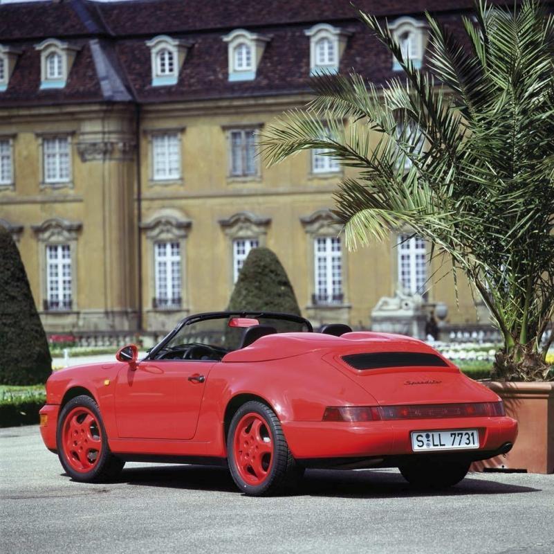Porsche 964 speedster rouge indien