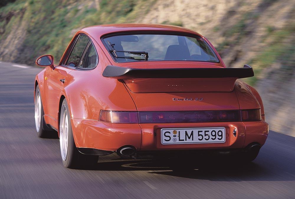 Porsche 964 turbo 3 6 arriere rouge