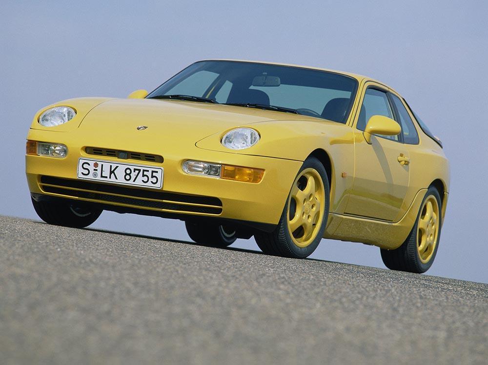 Porsche 968 cs jaune avant