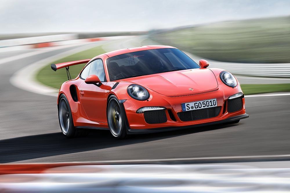 Porsche 991 gt3 rs orange circuit