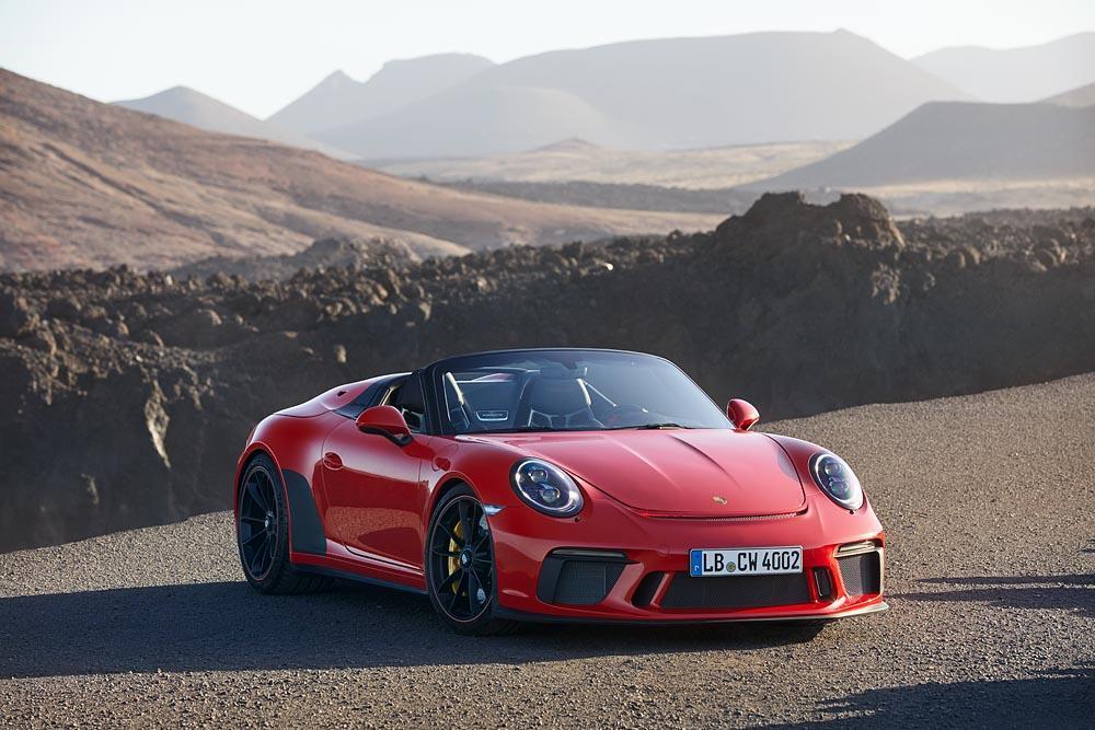 Porsche 991 speedster rouge indien