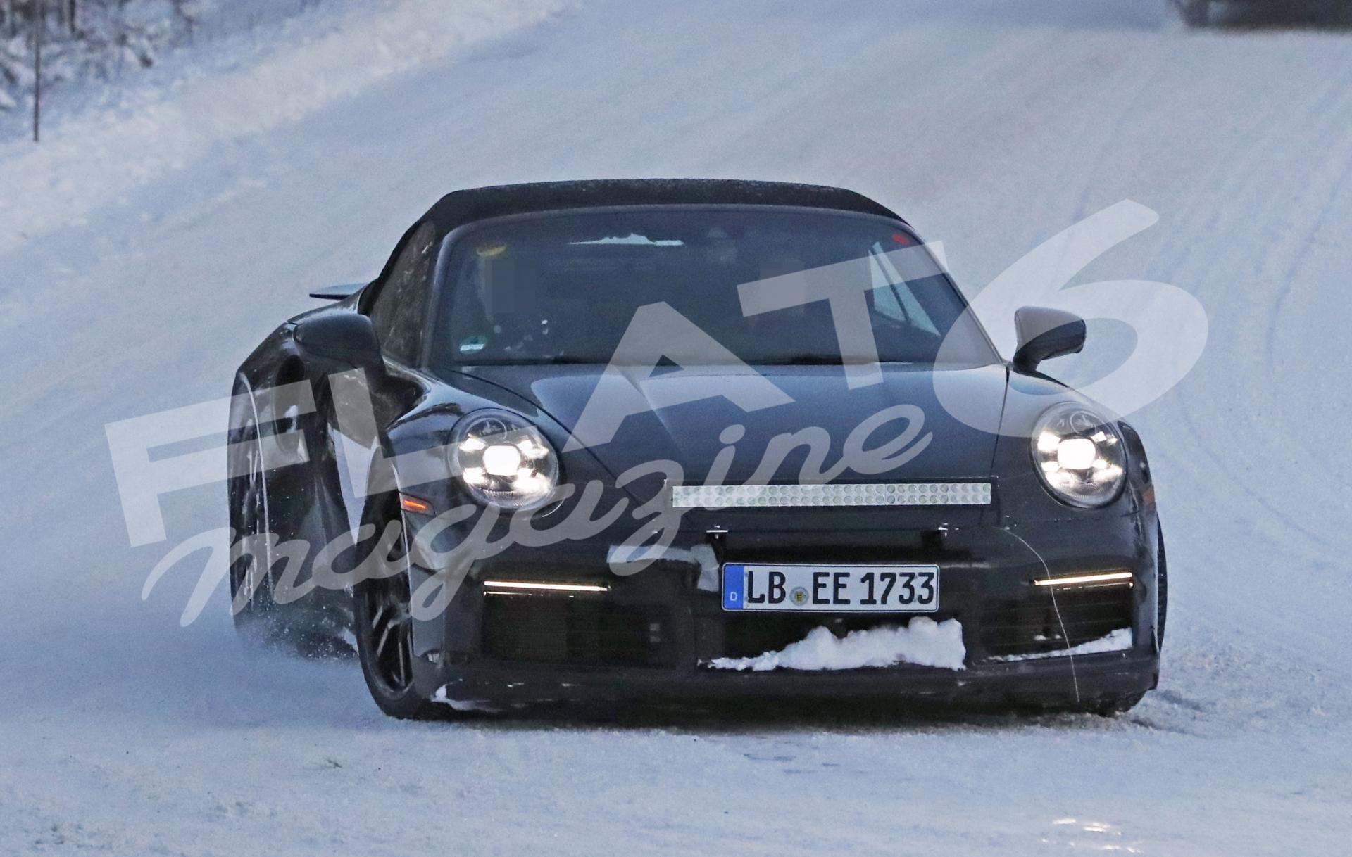 Porsche 992 turbo convertible winter 1