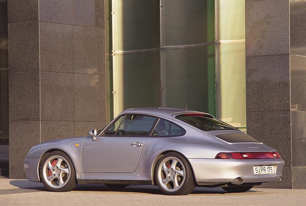 Porsche 993 carrera 4s gris arriere