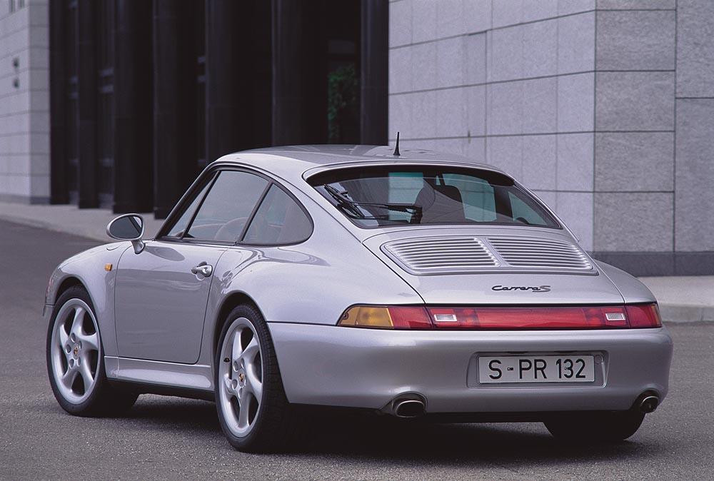 Porsche 993 carrera s gris arriere