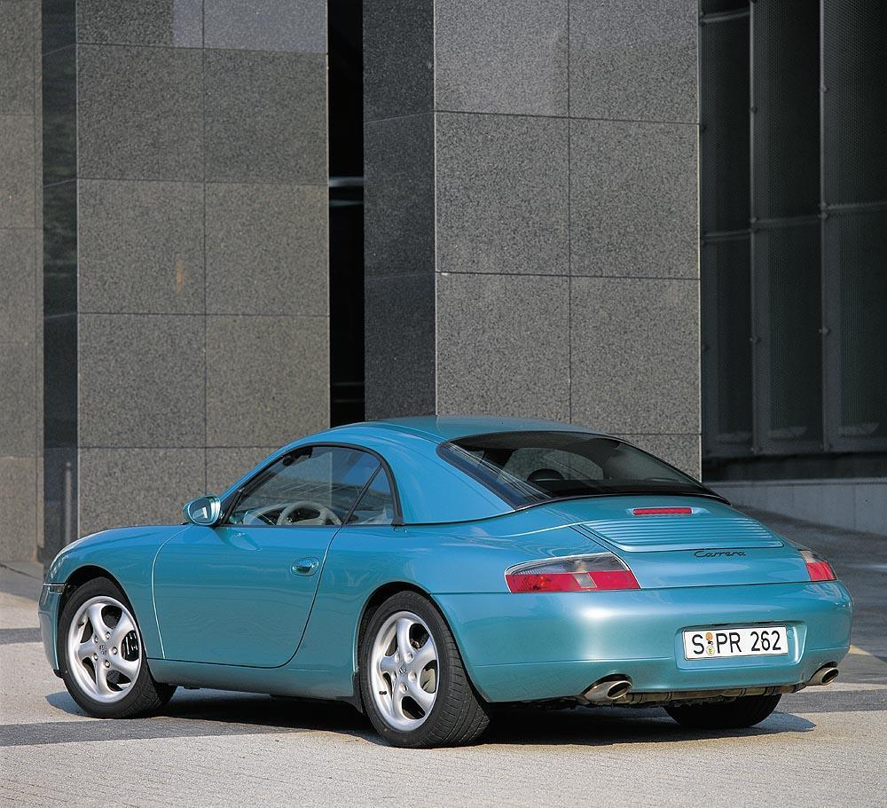 Porsche 996 cabriolet hardtop arriere 1