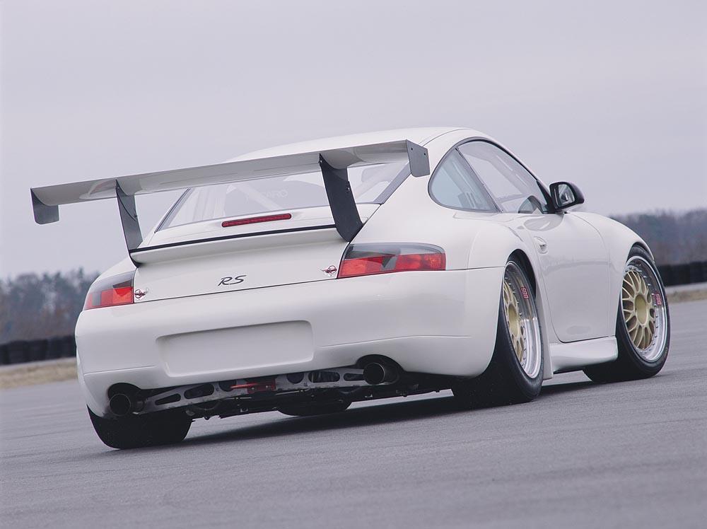 Porsche 996 gt3 cup blanc carrara arriere