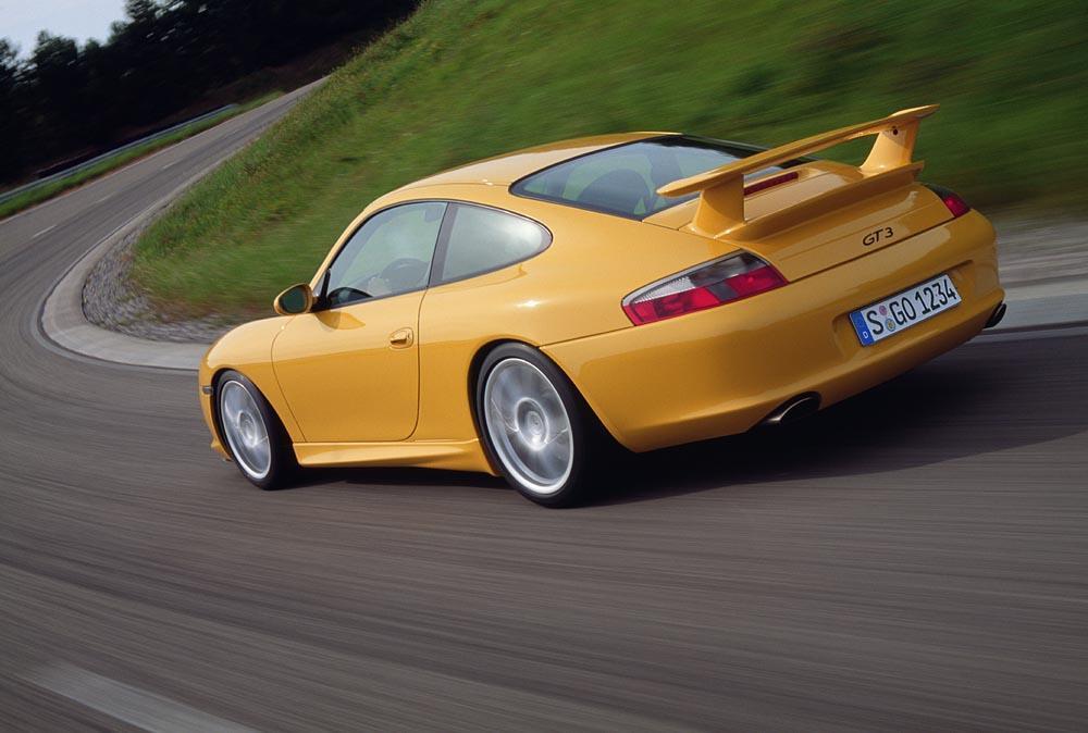 Porsche 996 gt3 jaune