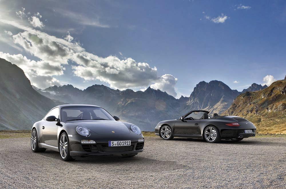 Porsche 997 black edition coupe cabriolet 1
