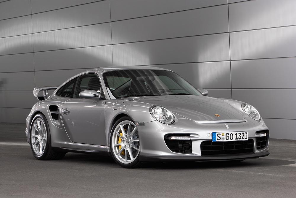 Porsche 997 gt2 gris avant