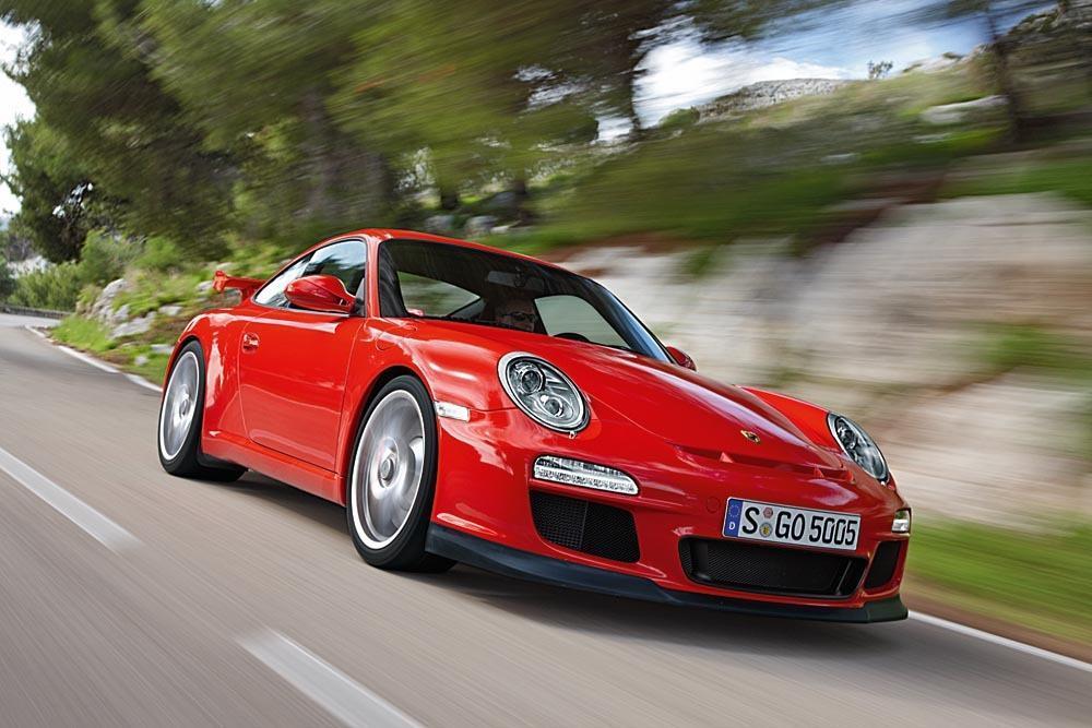 Porsche 997 gt3 rouge