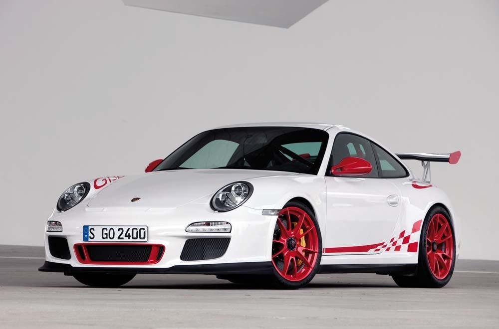 Porsche 997 gt3 rs phase ii blanc rouge