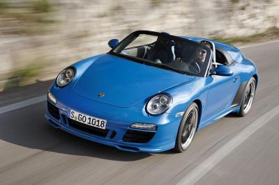 Porsche 997 speedster action