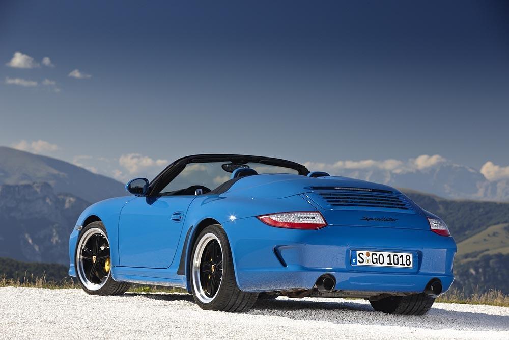 Porsche 997 speedster bleu profond 1