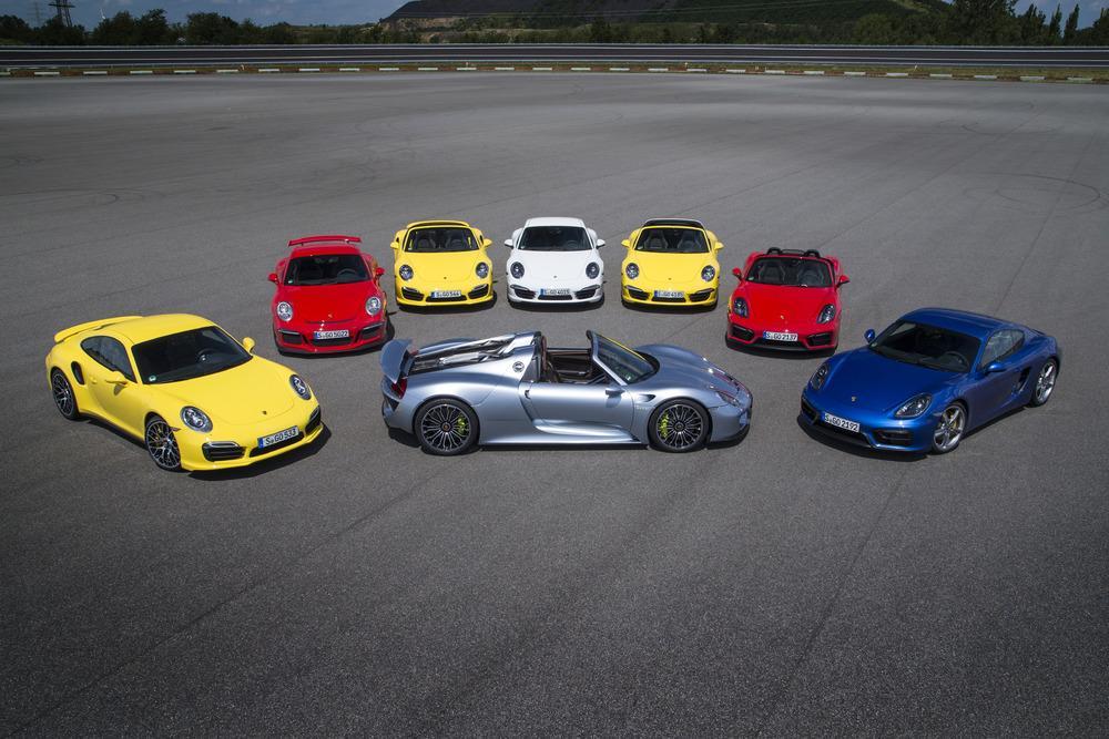 Porsche argent gt rouge indien jaune vitesse bleu saphire